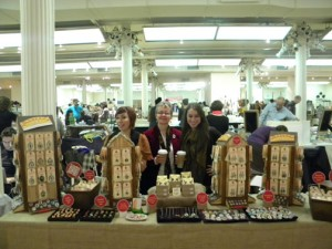 Here's the Babes off Schmutzerland getting ready for the crowds at the Bust Craftacular