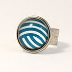 18mm Sterling Silver Plate Adjustable Ring