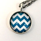 24.5mm Zigzag Antiqued Sterling Silver Plate Necklace