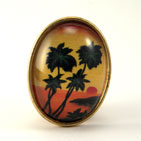 Tropical Sunset Brooch
