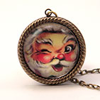 "25mm Round ""It Must Be St. Nick"" necklace"