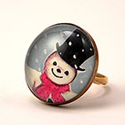 25mm Jolly Snowman Cocktail Ring