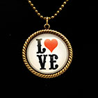 Love Letters 25mm Necklace