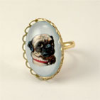 Clyde The Handsome Pug Petite Ring