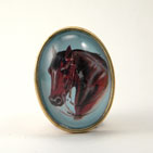 Hay is for Horses Brooch
