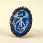 Anchors Away Blue Cocktail Ring