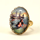 Over The Waves Petite Mermaid Ring