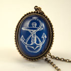 Anchors Away Blue Deluxe Necklace