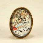 New York Map Brooch