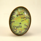 Paris Map Brooch