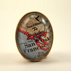 Old San Francisco Map Brooch