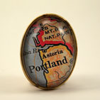 Old Portland Oregon Map Brooch