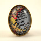 Old Boston Map Brooch