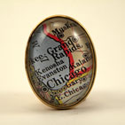 Old Chicago Map Brooch