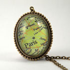 Paris Map Deluxe Necklace