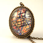 Washington DC Map Delux Necklace