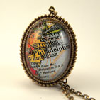Old Philadelphia Map Necklace
