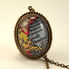 Old Boston Deluxe Map Necklace