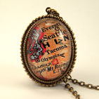 Old Seattle Map Necklace