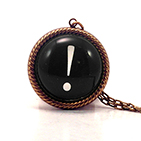 Exclamation Point Black Necklace