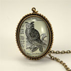 Wise Old Owl Brass Deluxe Necklace