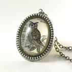 Wise Old Owl Silver Deluxe Necklace